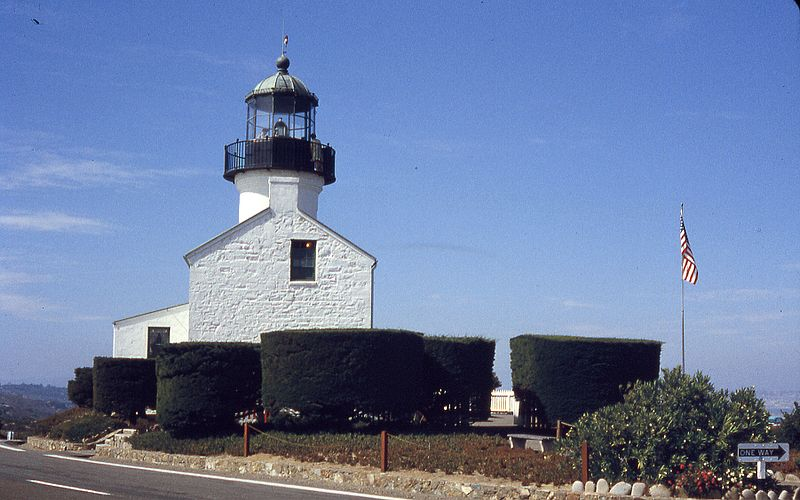 Old Point Loma Lighthouse in Cabrillo National Monument
