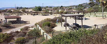 Overview of Beach in San Clemente State Beach in San Clemente, California
