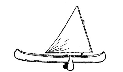 A type of sailing canoe