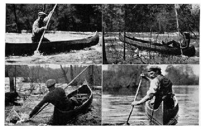 In Canoeing Against the Current in Swift Steams a Pole is Used in